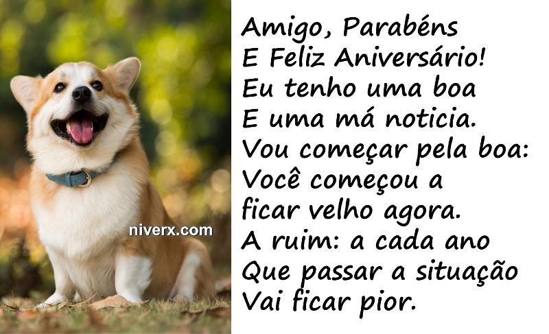 Well-known Feliz Aniversário engraçado para amigo – celular e Whatsapp  KI42