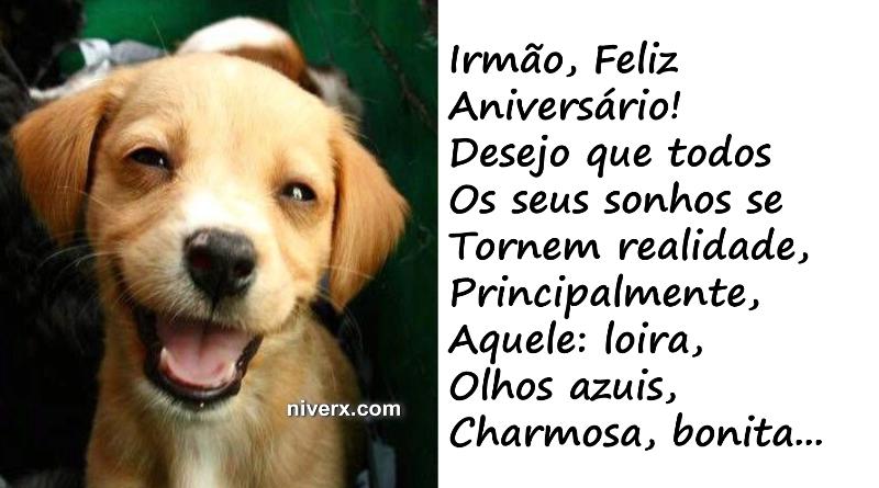 Well-known Feliz Aniversário engraçado para irmão – celular e Whatsapp  MK98