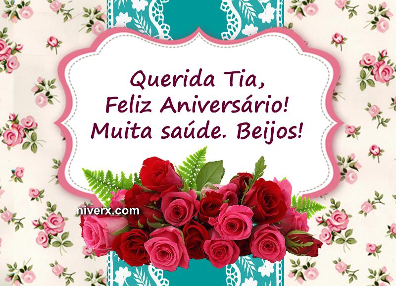 Mensagem De Parabéns Para Tia Querida: Feliz Aniversário Para Tia