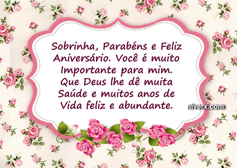 Beijo De Parabéns Para Sobrinha: Feliz Aniversário Para Sobrinha
