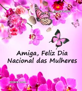 Dia Nacional das Mulheres - Whatsapp Facebook hfbg