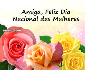 Dia Nacional das Mulheres - Whatsapp Facebook hfkko