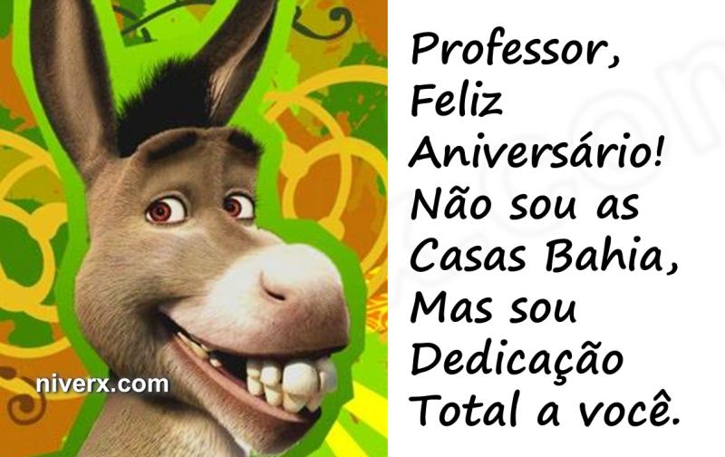 Famosos Feliz Aniversário Engraçado para Professor – Celular Whatsapp  HS74
