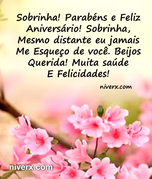 Well-known Feliz Aniversário para sobrinha – Celular e Whatsapp | Mensagens  ZM83