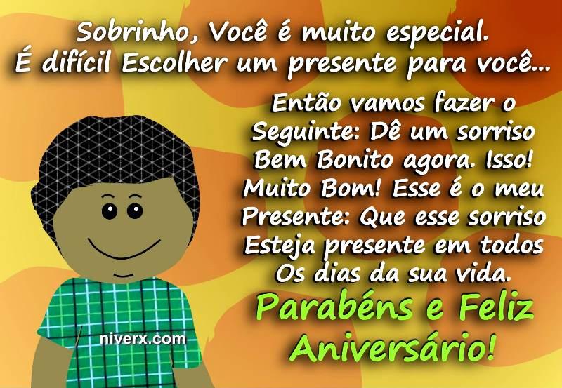 Feliz Aniversário Engraçado Para Sobrinho Whatsapp Facebook Celular