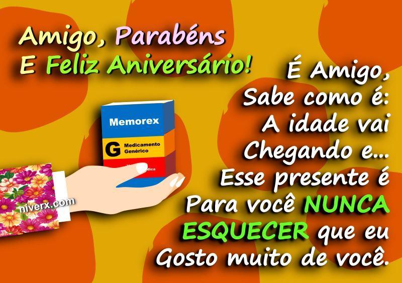 Mensagem De Aniversário Engraçado Para Amiga: Mensagem De Aniversário Engraçado Para Amigo-whatsapp