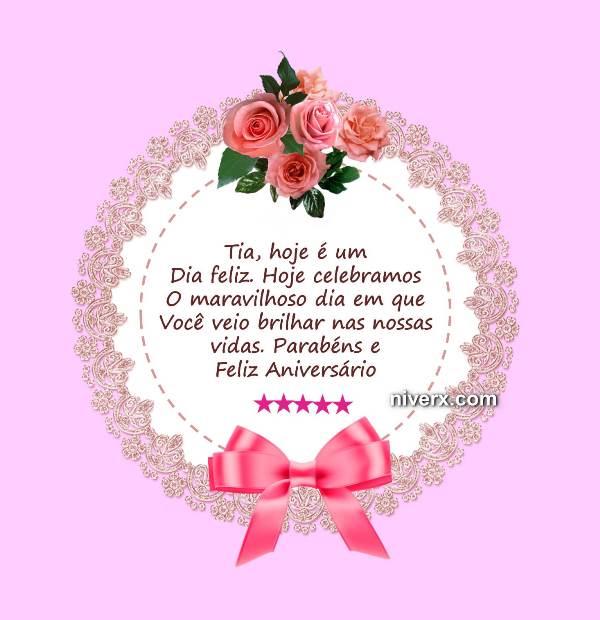 Aniversário Para Tia Querida Celular Whatsapp Facebook Imagem 3