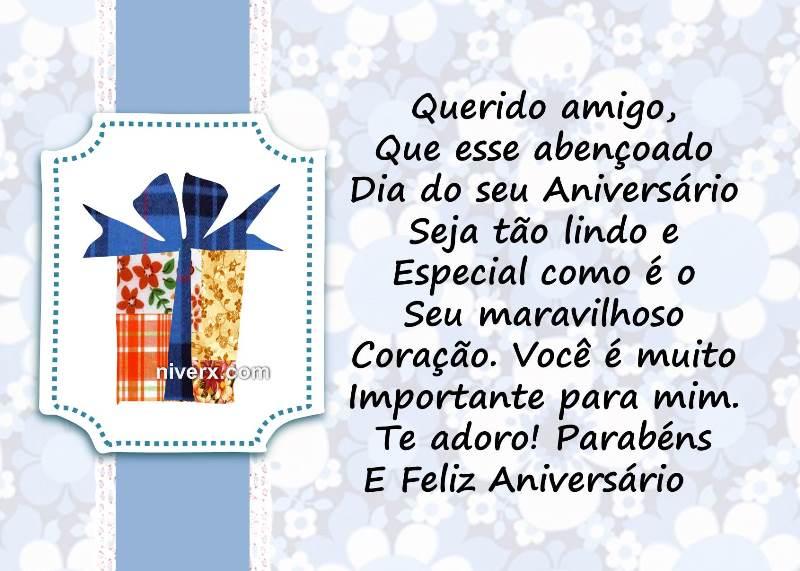 Tag Mensagem De Aniversario Para Querido Amigo