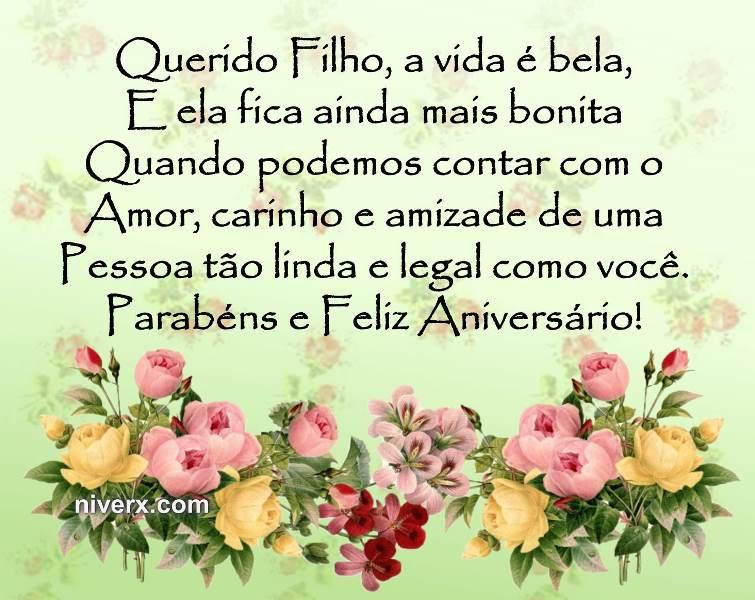 Frases Para Aniversário De Filho Celular Facebook Whatsapp Figura 1