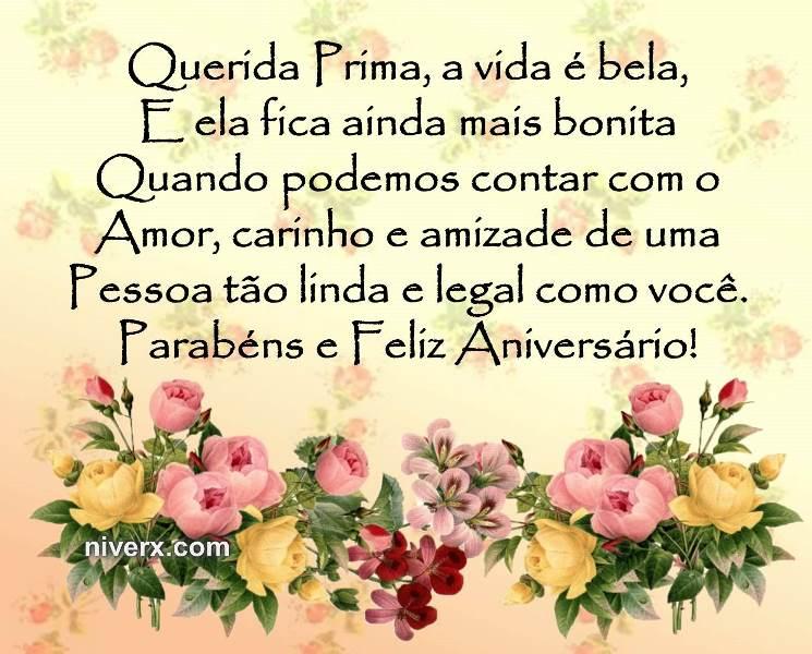 Frases Para Aniversário De Prima Celular Facebook Whatsapp Figura 2