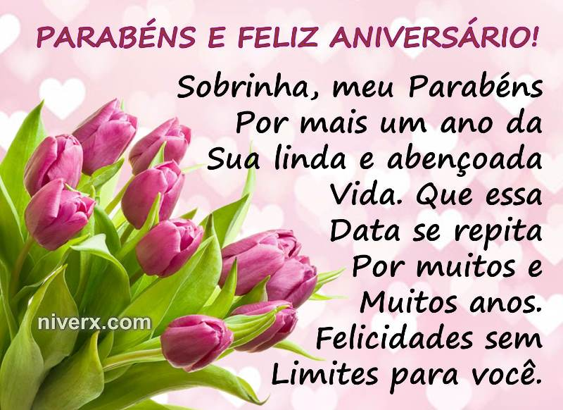 Frases Para Aniversário De Sobrinha- Celular-Facebook