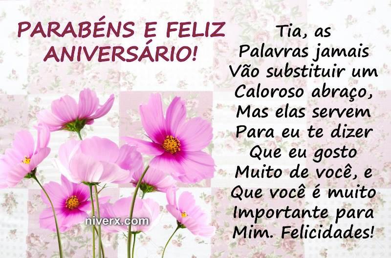 Frases Para Aniversário De Tia- Celular-Facebook-Whatsapp
