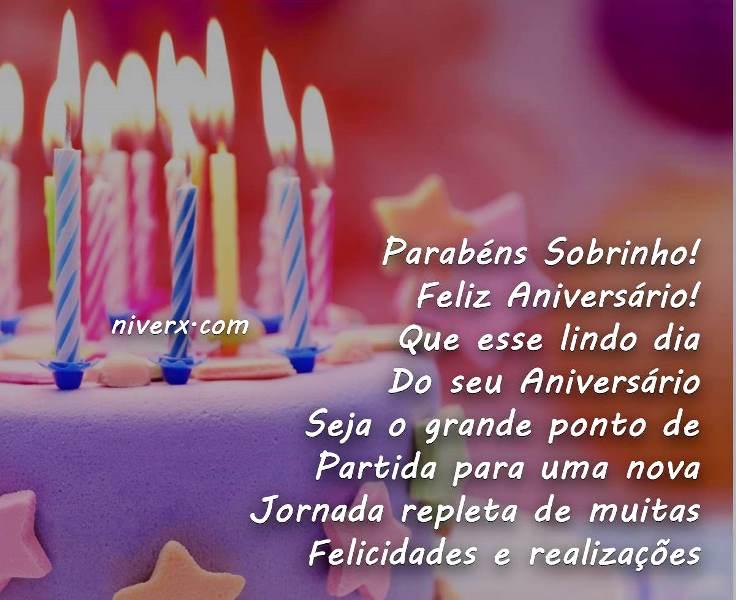 Mensagem De Aniversario De Um Ano Para Filho: Feliz Aniversário Sobrinho – Imagem 1